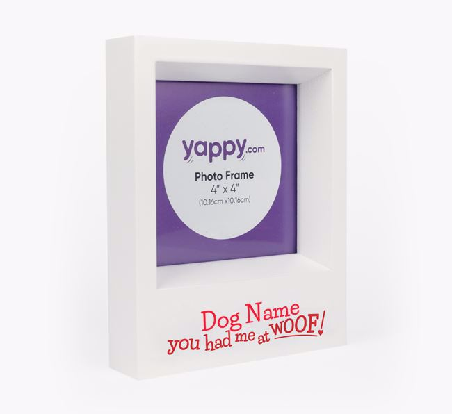 'Had me at woof' - Personalised Poodle Photo Frame