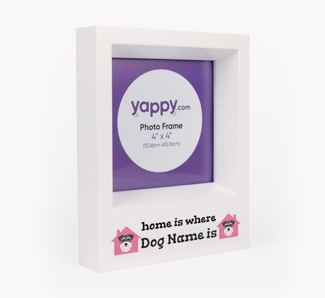 'Home is Where...' - Personalised Schnauzer Photo Frame