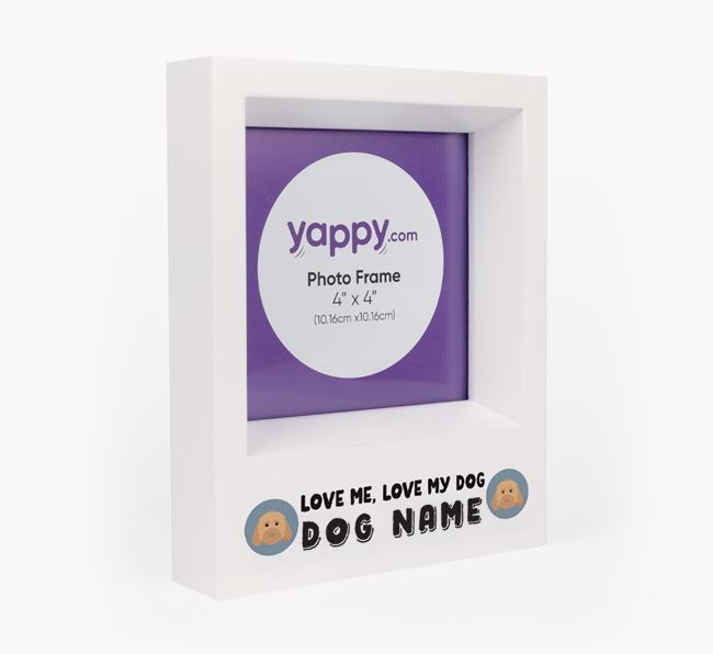 'Love Me, Love Your Dog' - Personalised Cockapoo Photo Frame
