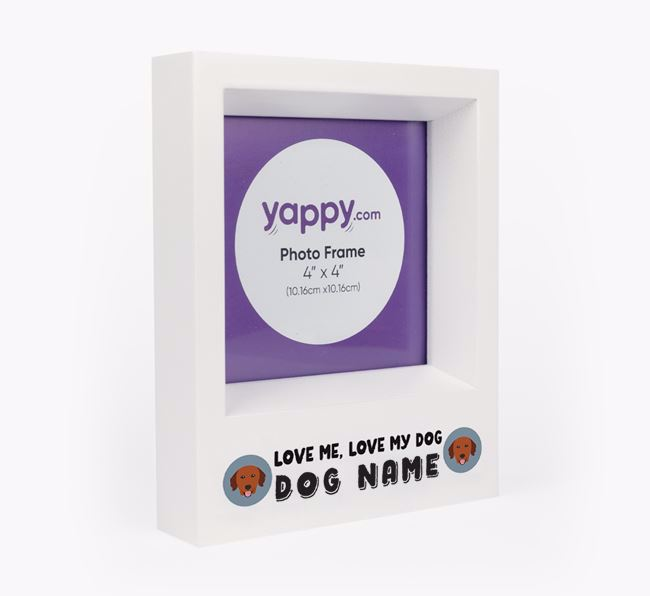'Love Me, Love Your Dog' - Personalised Golden Retriever Photo Frame