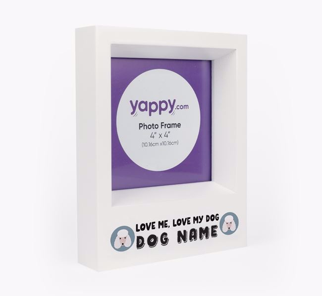 'Love Me, Love Your Dog' - Personalised Poodle Photo Frame