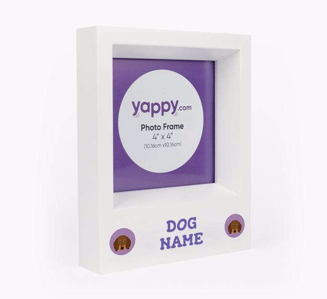 Personalised Photo Frame with Dachshund Icons