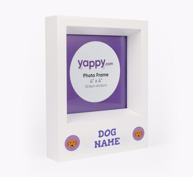 Personalised Photo Frame with Golden Retriever Icons