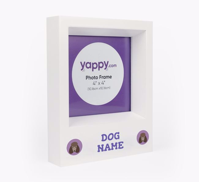 Personalised Photo Frame with Poodle Icons