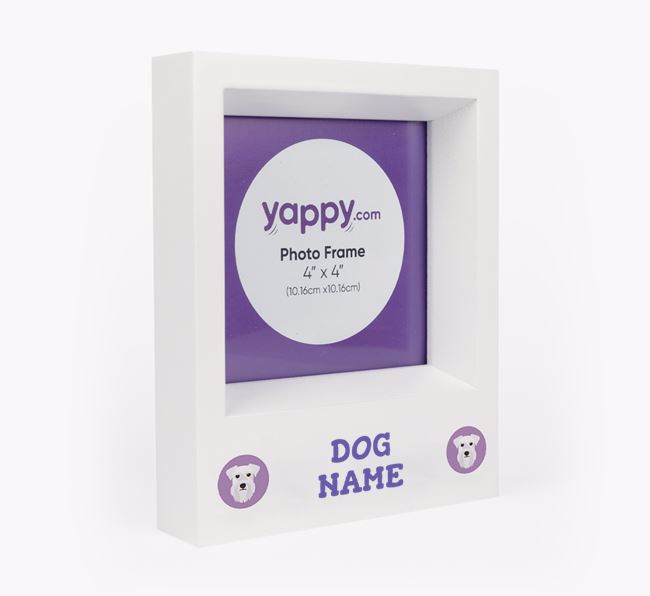 Personalised Photo Frame with Schnauzer Icons