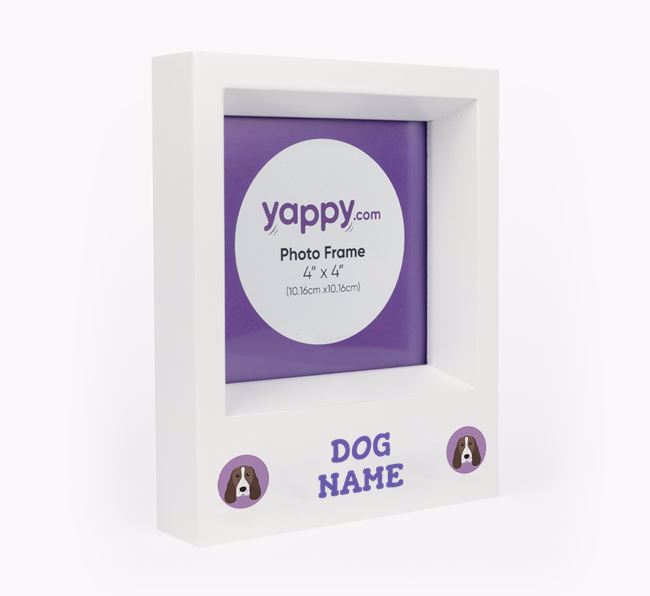 Personalised Photo Frame with Springer Spaniel Icons