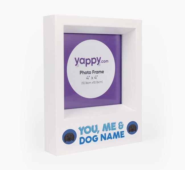 'You, Me and Your Dog' - Personalised Cavapoo Photo Frame