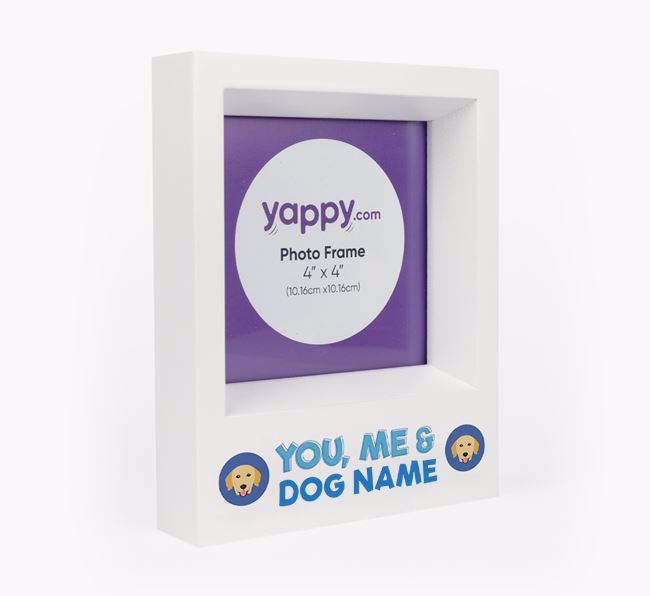 'You, Me and Your Dog' - Personalised Golden Retriever Photo Frame