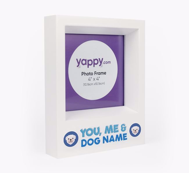 'You, Me and Your Dog' - Personalised Pug Photo Frame