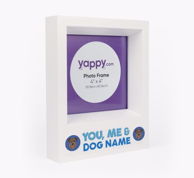 'You, Me and Your Dog' - Personalised Schnauzer Photo Frame
