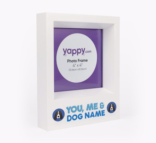 'You, Me and Your Dog' - Personalised Springer Spaniel Photo Frame