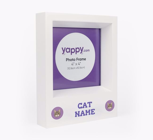 Personalised Photo Frame with Cat Icons