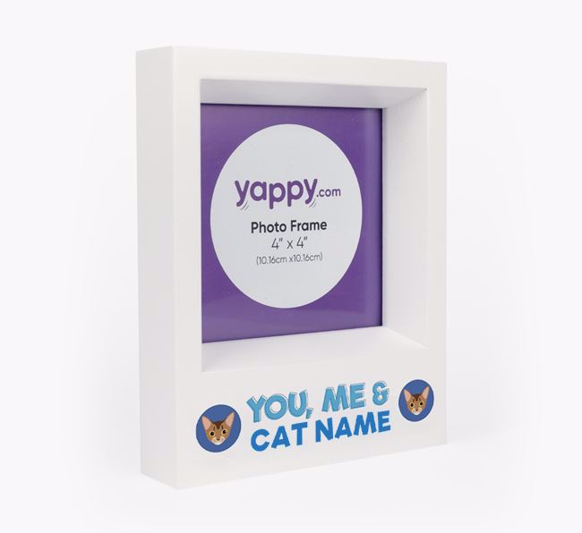 'You, Me and Your Cat' - Personalised Cat Photo Frame