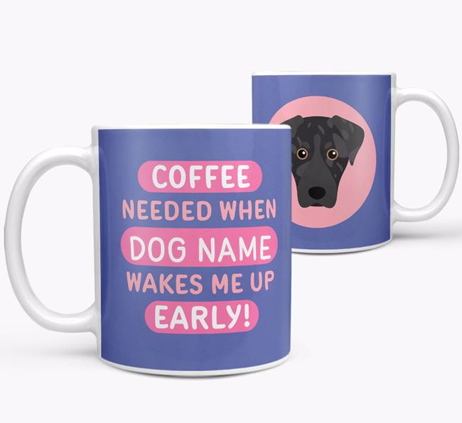 'Coffee Needed when...' Mug - Personalized for your American Leopard Hound