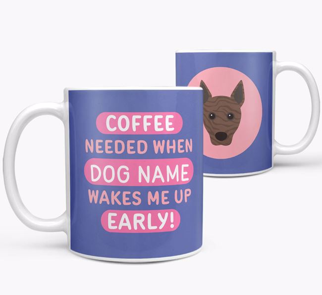 'Coffee Needed when...' Mug - Personalized for your Basenji