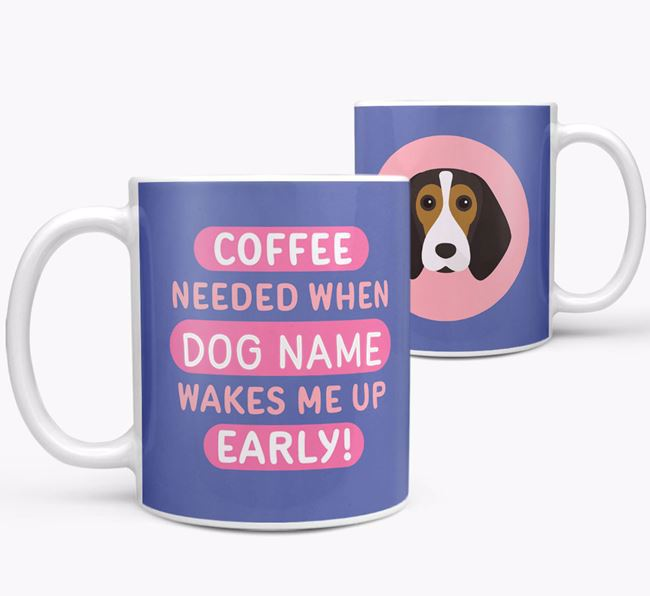 'Coffee Needed when...' Mug - Personalized for your Beagle