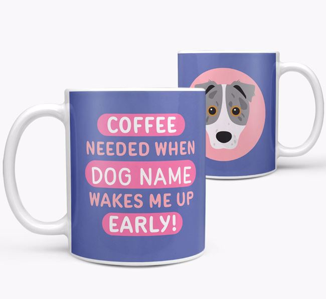'Coffee Needed when...' Mug - Personalized for your Border Jack