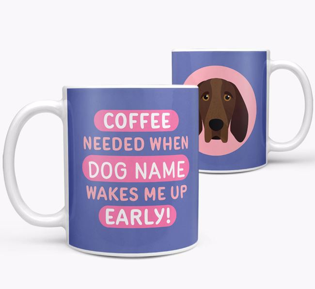 'Coffee Needed when...' Mug - Personalized for your Bracco Italiano