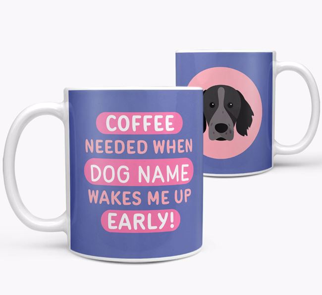'Coffee Needed when...' Mug - Personalized for your Brittany