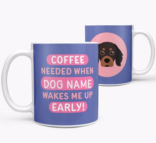 'Coffee Needed when...' Mug - Personalized for your Cavapom