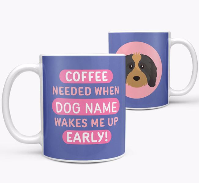 'Coffee Needed when...' Mug - Personalized for your Cavapoo