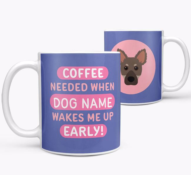 'Coffee Needed when...' Mug - Personalized for your Dameranian