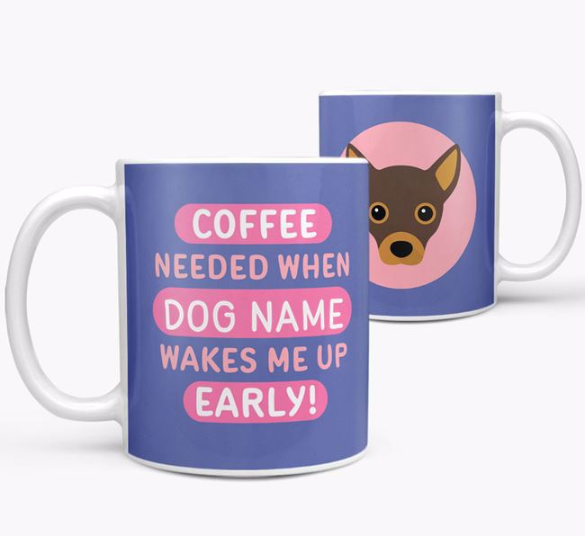 'Coffee Needed when...' Mug - Personalized for your Jackahuahua