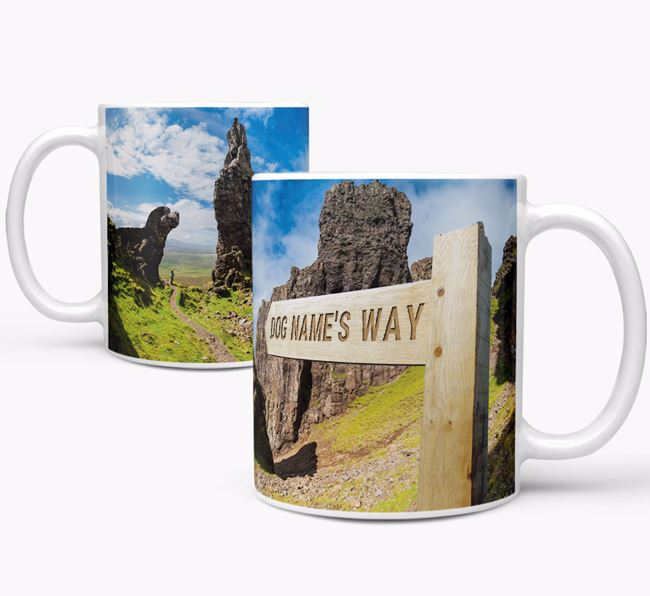 'Hiking Trail' Mug - Personalized with your Bich-poo