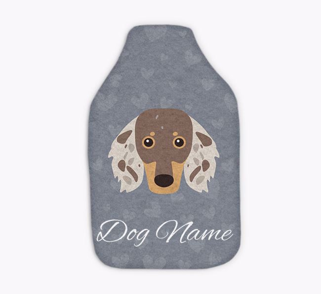 Personalised Hot Water Bottle with Dachshund Yappicon