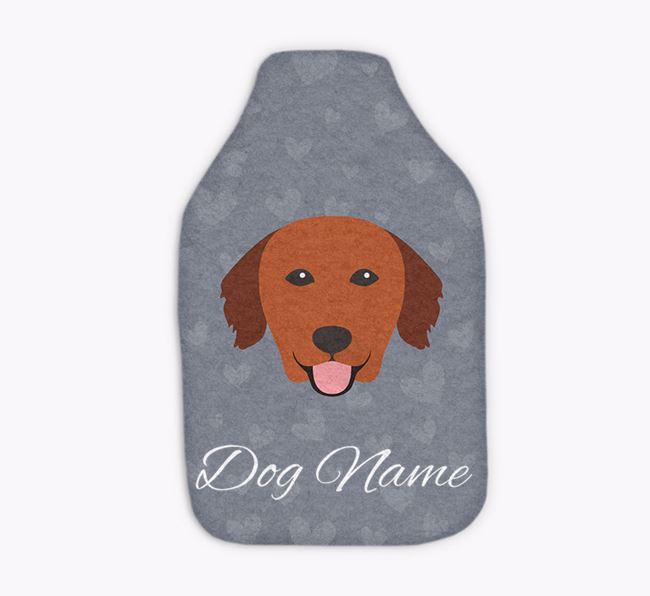 Personalised Hot Water Bottle with Golden Retriever Yappicon