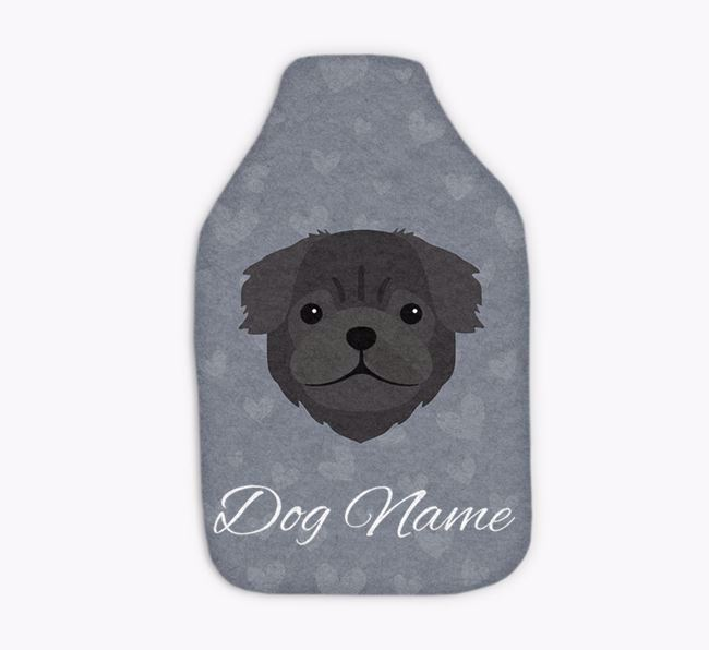 Personalised Hot Water Bottle with Pug Yappicon