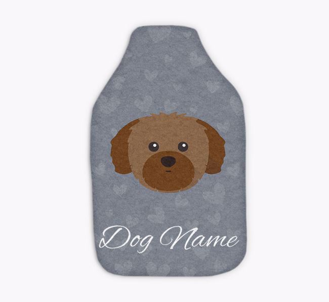 Personalised Hot Water Bottle with Shih Tzu Yappicon
