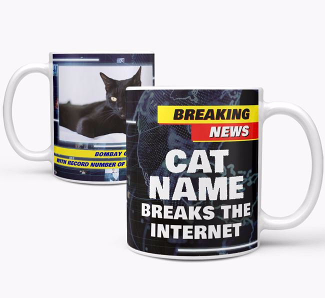 'Breaks The Internet' Mug with Photo of your Cat