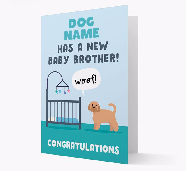 'New Baby Brother' - Personalised Dog Card