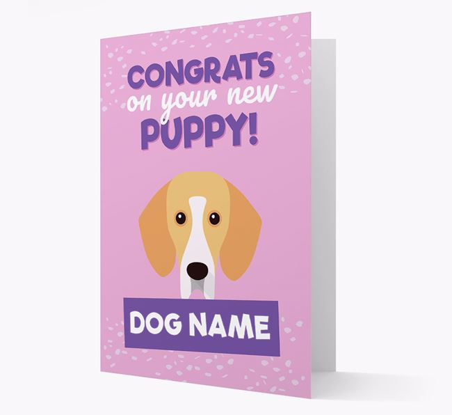 'Congrats On Your New Puppy!' - Personalised Bassador Card