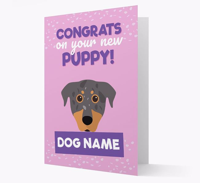 'Congrats On Your New Puppy!' - Personalized Beauceron Card
