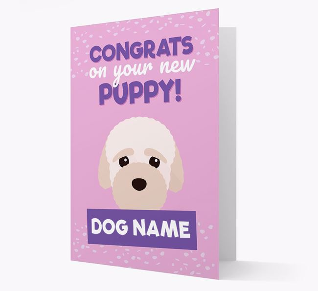 'Congrats On Your New Puppy!' - Personalized Bich-poo Card