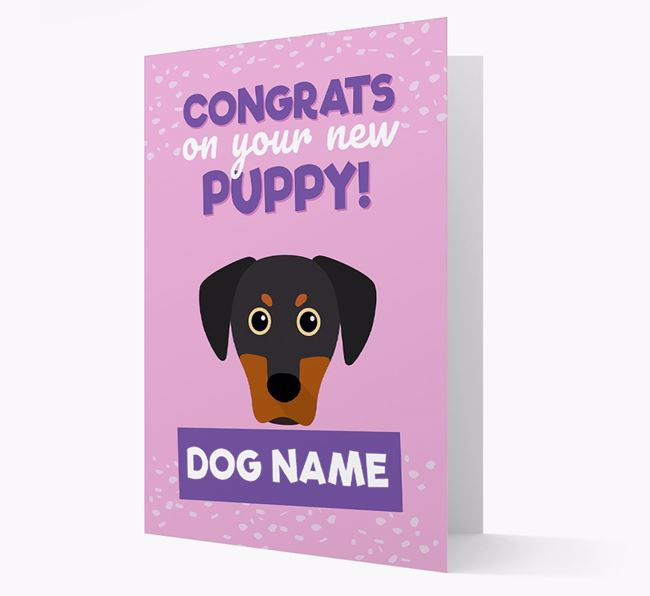 'Congrats On Your New Puppy!' - Personalized Blue Lacy Card