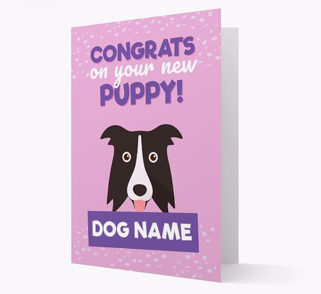 'Congrats On Your New Puppy!' - Personalized Dog Card