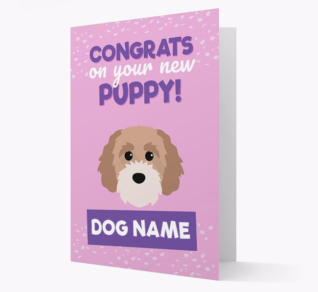 'Congrats On Your New Puppy!' - Personalized Cavapoochon Card