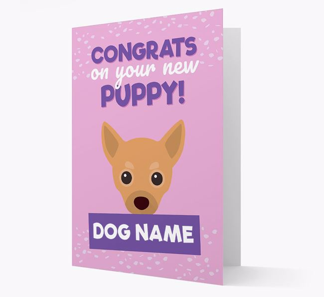 'Congrats On Your New Puppy!' - Personalized Chihuahua Card