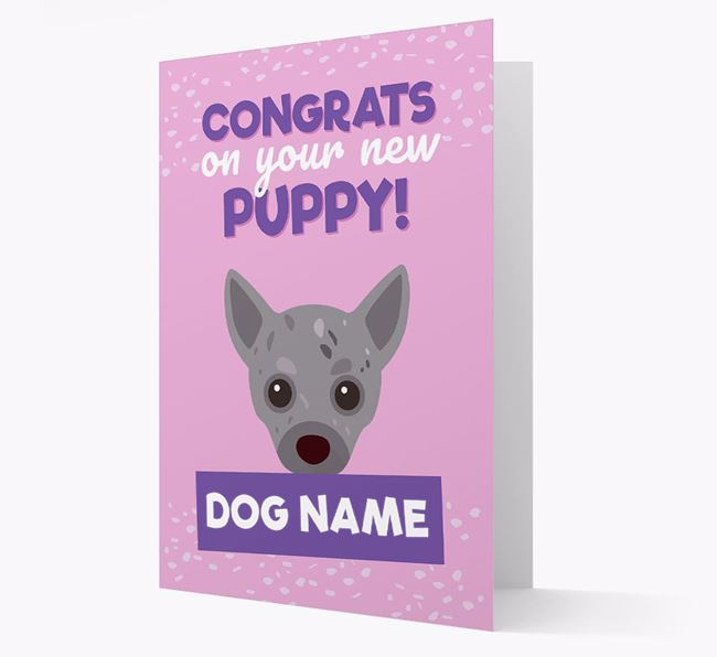 'Congrats On Your New Puppy!' - Personalised Chihuahua Card