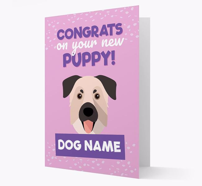 'Congrats On Your New Puppy!' - Personalized Chinook Card