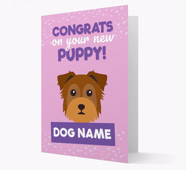 'Congrats On Your New Puppy!' - Personalized Chorkie Card