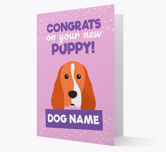 'Congrats On Your New Puppy!' - Personalized Cocker Spaniel Card
