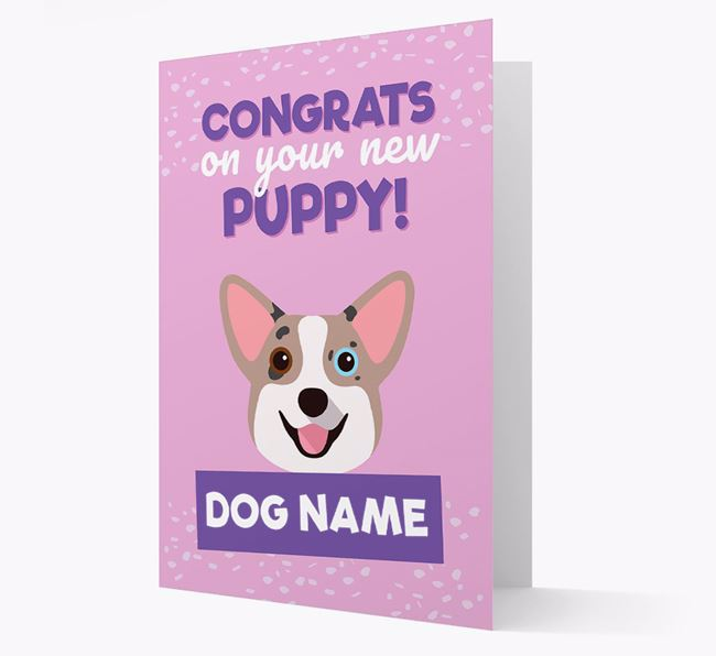 'Congrats On Your New Puppy!' - Personalized Corgi Card