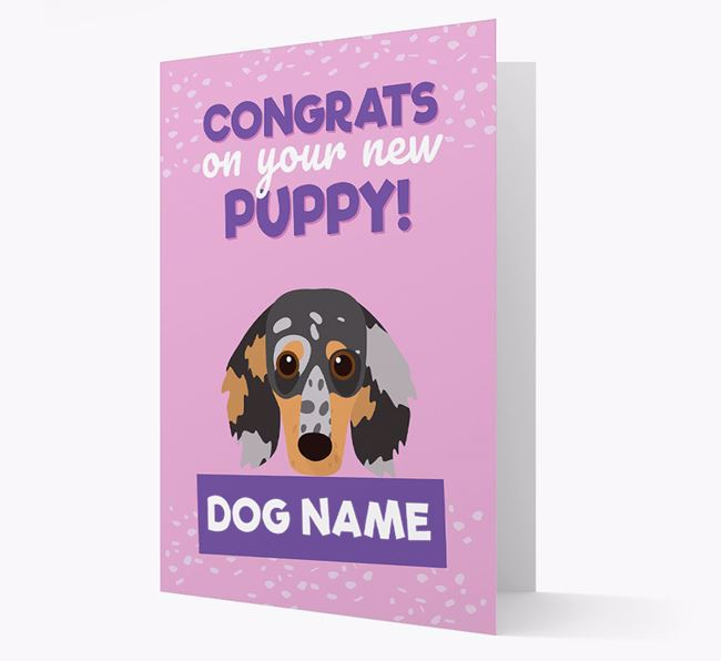 'Congrats On Your New Puppy!' - Personalized Dachshund Card