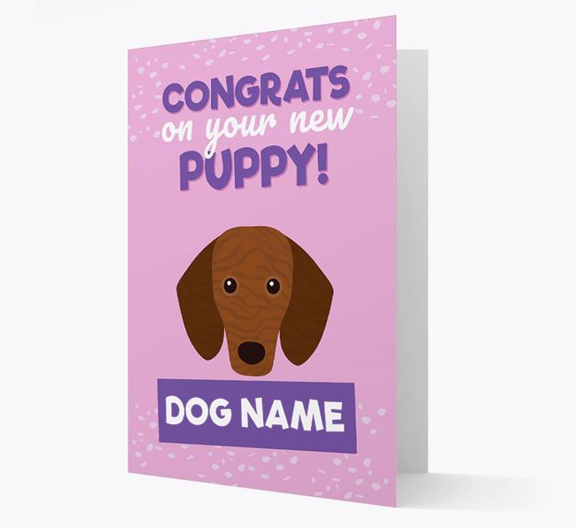 'Congrats On Your New Puppy!' - Personalised Dachshund Card
