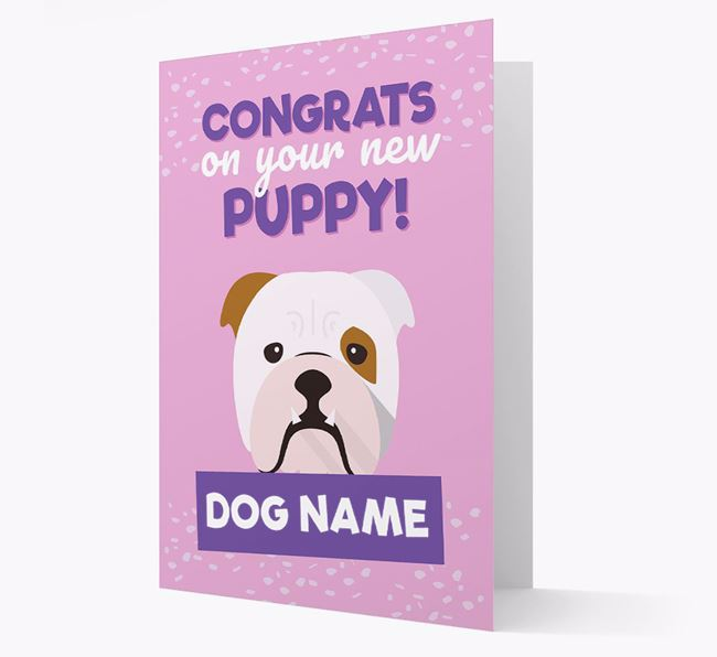 'Congrats On Your New Puppy!' - Personalized English Bulldog Card