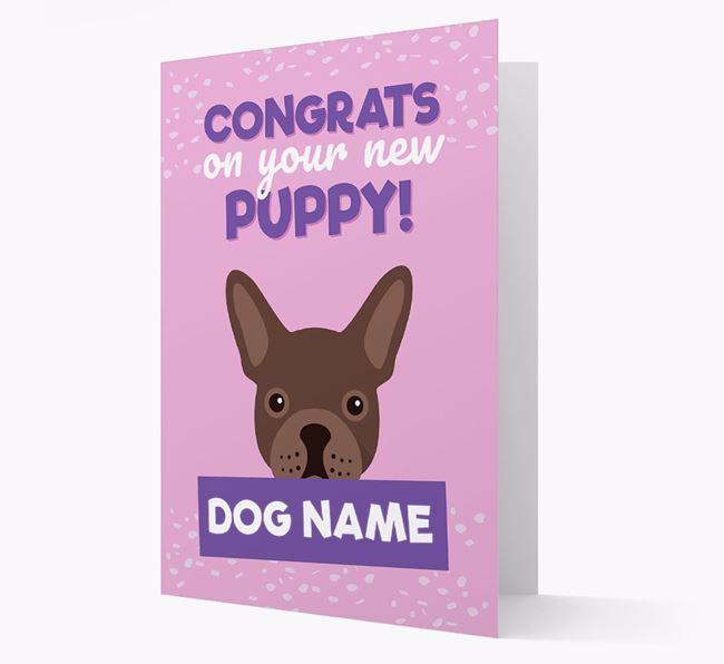 'Congrats On Your New Puppy!' - Personalized French Bulldog Card
